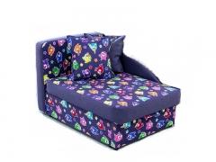 Детский диван Умка эконом Птицы фиолетовый-Baltic Violet