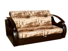 Диван-аккордеон Непал Люкс Париж-коричневый кожзам