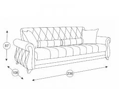 Диван-кровать Роуз арт. ТД-123 серый
