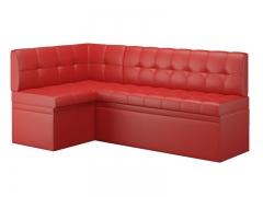 Диван угловой кухонный Остин со спальным местом Эко кожа Reex Red