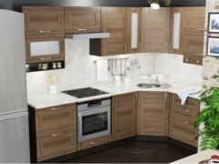 Гарнитур кухонный Кира Гранд Оптима угловой 1500х2600