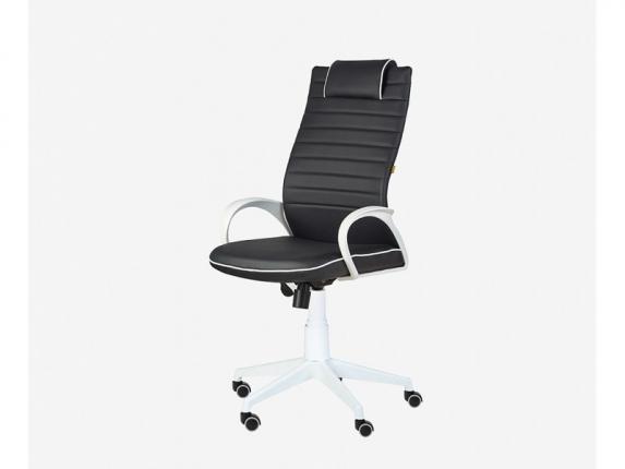 Кресло для руководителя Квест White черный