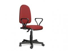 Кресло офисное Престиж Люкс gtpPN S16 ткань черно-красная