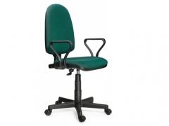 Кресло офисное Престиж Люкс gtpPN S32 ткань зелено-черная