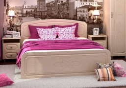 Кровать 1400 Виктория КР 911 белфорт/МДФ жемчуг