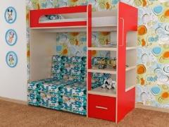Кровать 2-х ярусная № 10 с диваном