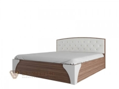 Кровать двухспальная 1800 Лагуна-7 с пуговицами