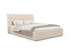 Кровать Леди Анна вариант 1 Бежевый кожзам