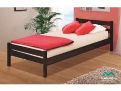 Кровать одинарная Марибель 900 В-1 массив темный орех