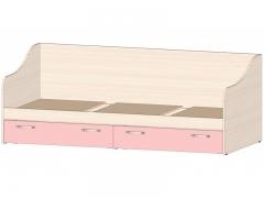 Кровать с ящиками Буратино Розовый