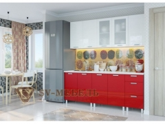 Кухня Модерн Гранат-белая