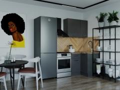 Кухонный гарнитур угловой Антрацит 1000У