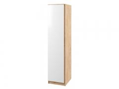 Шкаф 1-створчатый Марли МШК480.1 дуб бунрати-белый глянец