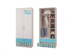 Шкаф 2-х дверный для одежды с ящиками Джимми