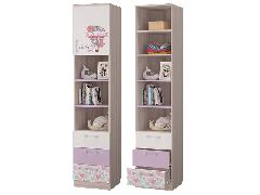 Шкаф для книг с ящиками и дверкой Адель