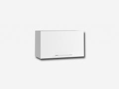 Шкаф навесной горизонтальный без фрезеровки ПГ600 Капля МДФ белый глянец ШхВхГ 600х350х280 мм