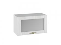 Шкаф навесной горизонтальный со стеклом ПГС600 Империя МДФ сандал ШхВхГ 600х350х280 мм