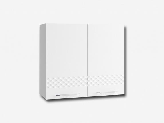 Шкаф навесной П800 Капля МДФ белый глянец ШхВхГ 800х700х280 мм