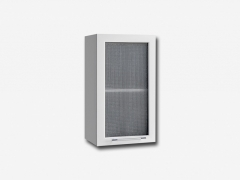 Шкаф навесной со стеклом ПС400 Капля МДФ белый глянец ШхВхГ 400х700х280 мм