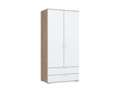 Шкаф с ящиками Лайт ШР-2-1 Дуб Сонома-Белый