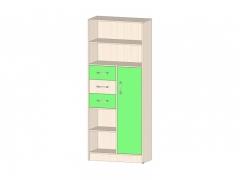 Шкаф-стеллаж Буратино Зеленый