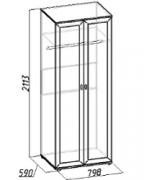 Спальня Милана Шкаф для одежды 1 798х590х2113