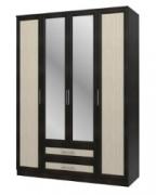 Спальня Юлианна Дуб Феррара СБ-074-01 Шкаф 4-х дверный с зеркалами 1600х590х2236