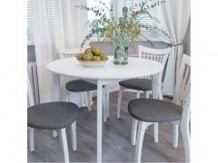 Стол обеденный Орион 1150 Белая эмаль