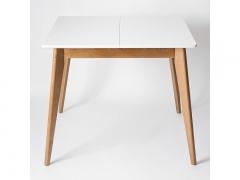 Стол обеденный Орион 3.0 плюс 900 Дуб натуральный-Белая эмаль