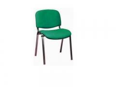 Стул офисный Изо хром S34 ткань зеленая