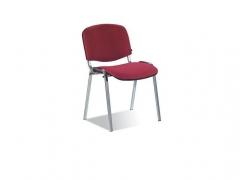 Стул офисный Изо хром S50 ткань бордо